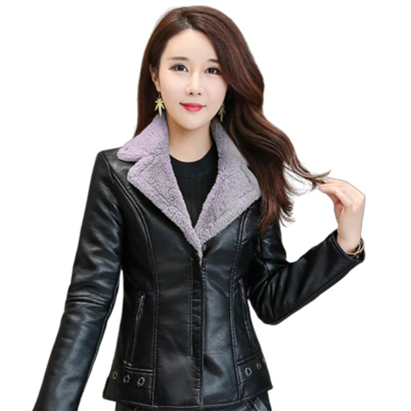 Campera Chaqueta Cuero Mujer manteau noir femmes Faux Cuir femmes vestes de base Perfecto Femme Cuir vêtements d'extérieur & manteaux