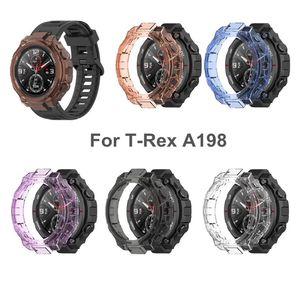 Чехол для часов Hua mi A mazfit T-REX, мягкий защитный чехол из ТПУ, защитная рамка для бампера, Аксессуары для браслета