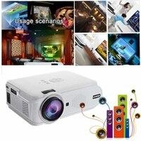 Портативный HD 1080P видео проектор светодиодный мини проекторы 7000лм Домашний кинотеатр видео Луч 4K для домашнего кинотеатра видеоигры смартф...