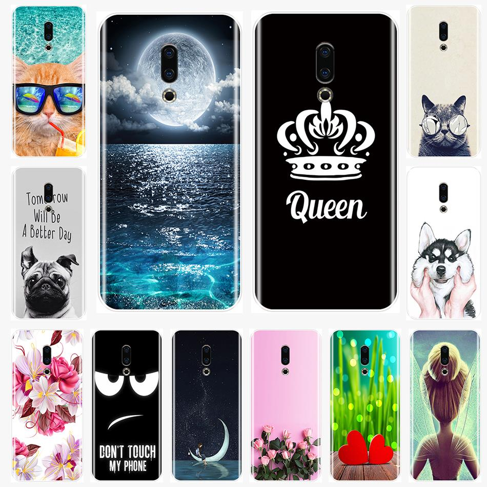 Back Cover For Meizu 16th 16x 15 Lite <font><b>16</b></font> Plus Soft Silicone Cute pattern painting Phone Case For Meizu U10 U20 Pro 6 7 Plus image