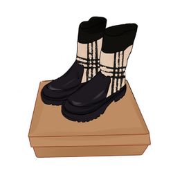 Per-sale Shipment Around August 22 New Winter Boots for Girls Knitted Lattice Tube for Soft Patent Leather Boys Boots Size 25-39