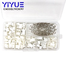 цена на 250pcs XH2.54 2p 3p 4 pin 2.54mm Pitch Terminal Kit / Housing / Pin Header JST Connector Wire Connectors Adaptor XH Kits TJC3