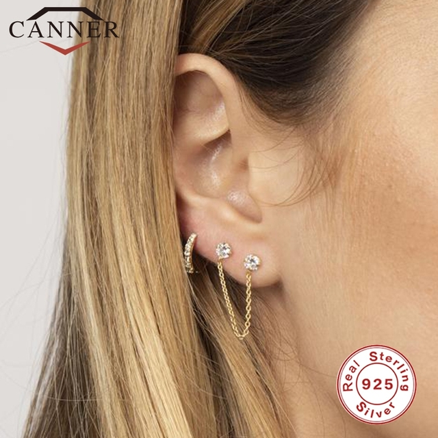 1 pair of 925 Sterling Silver Snowflake Ear Cuff Without Piercing Clip Earrings for Women Crystal Zircon Clip on Earrings 5