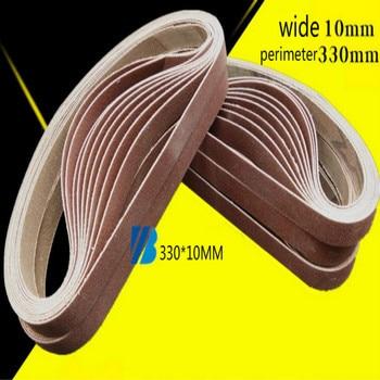 330*10mm 40-600mesh sanding belt sander sanding paper for belt grinder wheel grinding belts 20pcs/lot free shipping цена 2017