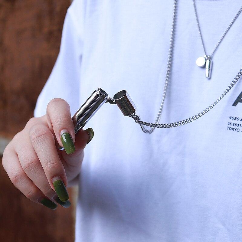 20SS Ambush Necklace High Quality Pendant Titanium Steel Ambush Pipe Pendant High Street Hip Hop Unisex Ambush Belt Buckle