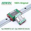2 шт. оригинальный Hiwin MGN12C блоки + 1pc линейные направляющие MGN12 100 150 200 250 300 350 400 450 500 550 600 мм MGNR12 рельса cnc частей