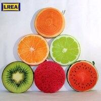 LREA 30 см 3D cojines фрукты сиденье подушки Круглый Подушка домашний декор Новинка диван пледы