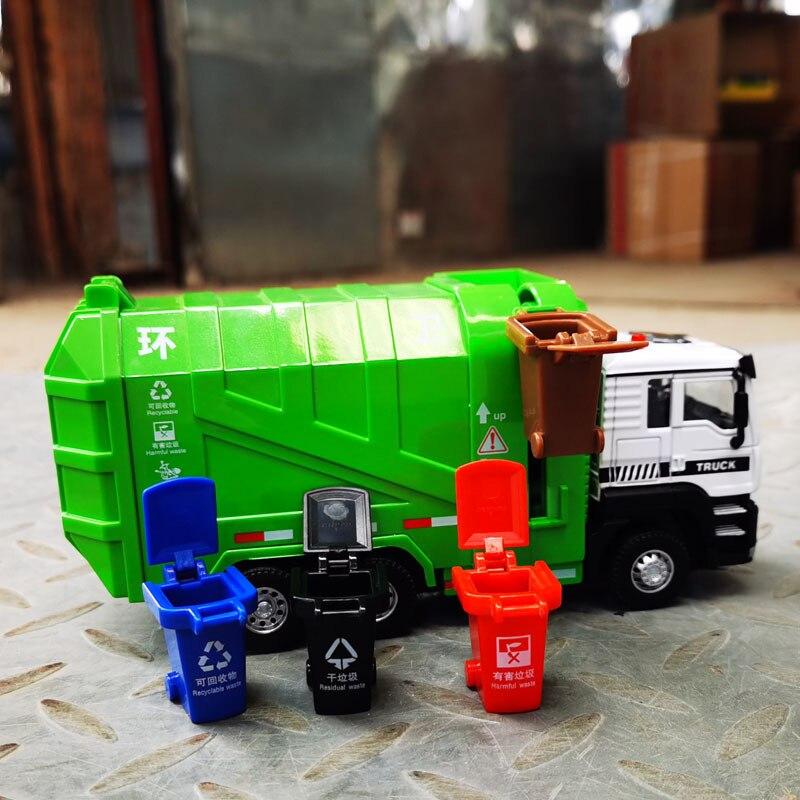 1:50 modelo de caminhão de lixo saneamento