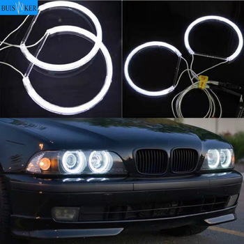 цена на For BMW E36 E38 E39 E46 CCFL Angel Eyes Kit Warm White Halo Ring 131mm*4  (With Original Projector)