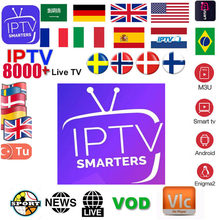 Europa Iptv Abonnement Rocksat Uk Duits Arabisch Nederlandse Zweden Polen Portugal Smart Tv Iptv M3U 8000 + Live(China)