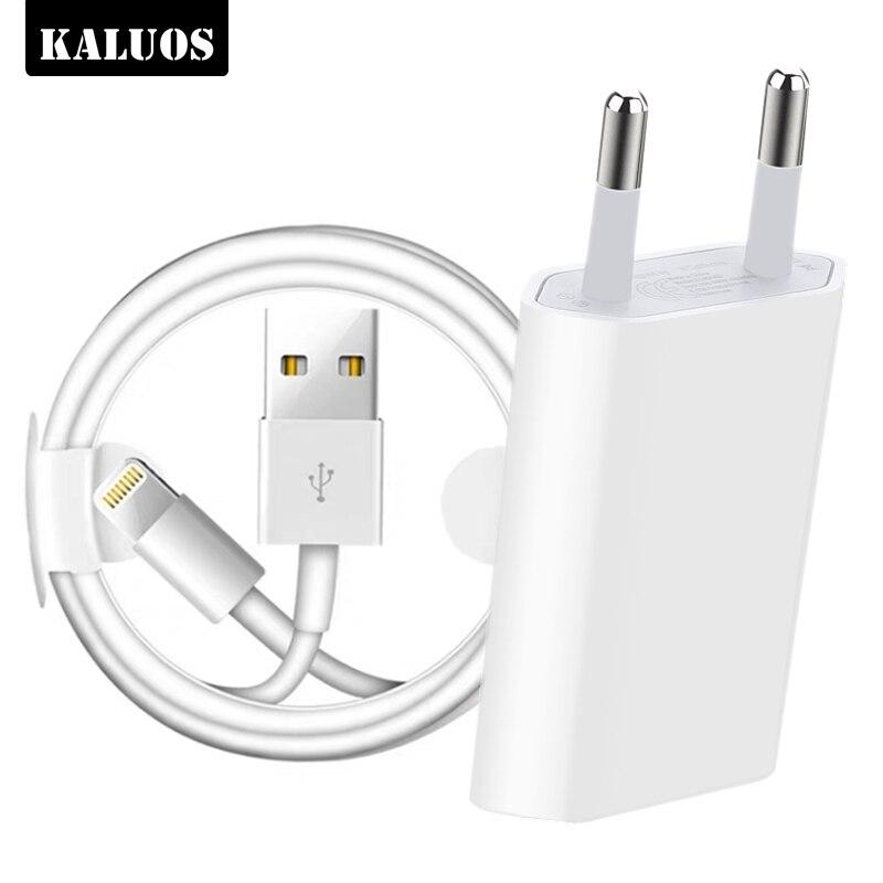 Kit 1m 2m 3m câble de chargement USB + prise EU chargeur USB pour iPhone 6 6S 7 8 Plus X XS MAX XR 5 5S 5C SE chargeurs muraux de téléphone câbles