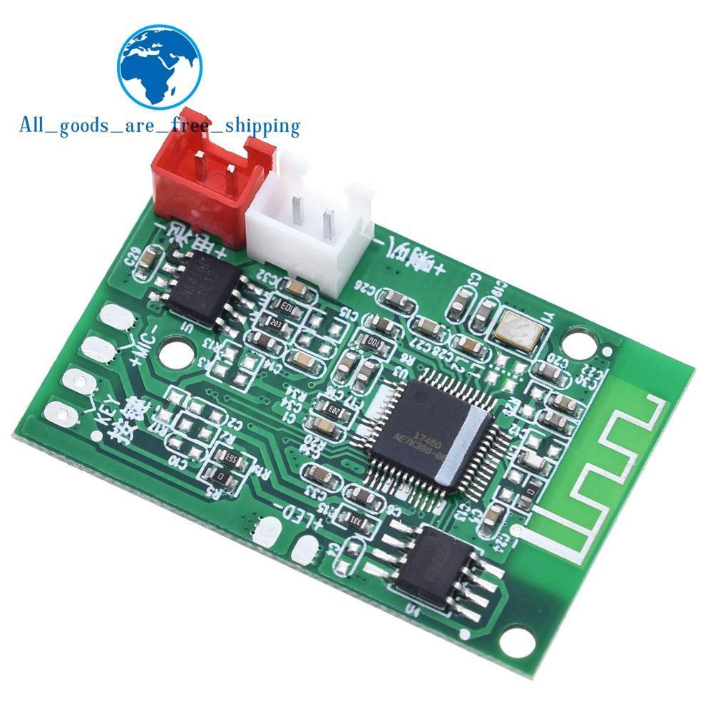 TZT Mono 3W Mini Bluetooth 4,2 altavoz amplificador placa Clase D Audio teléfonos ordenadores PC DIY DC3.7-5V