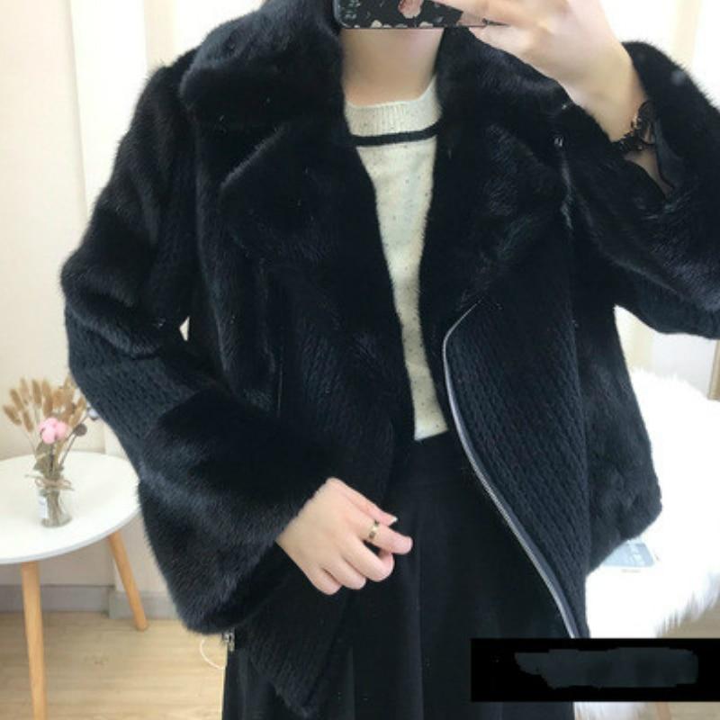 Kadın Giyim'ten Gerçek Kürk'de OFTBUY 2019 doğal gerçek vizon kürk ceket kış ceket kadınlar Turn Down yaka kalın sıcak Streetwear Casual lüks marka moda'da  Grup 3
