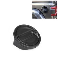Cubierta negra de la tapa del Gas de la puerta del combustible del coche con la cerradura para la cubierta del tanque del Gas del gladiador JT 2018 de Jeep Wrangler JL 2019 2020