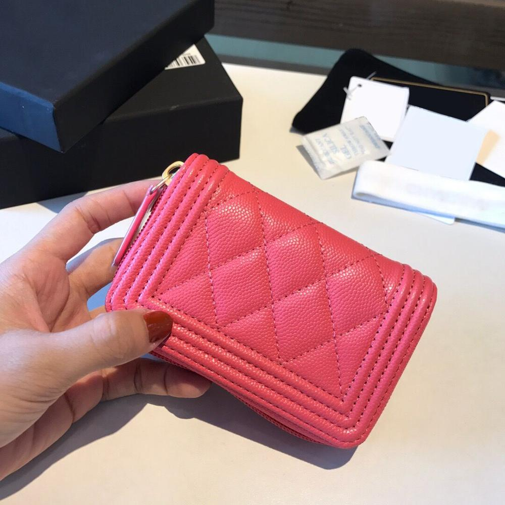 2020 New high-end high-end custom brand luxury cardholder Caviar leather making coin purses
