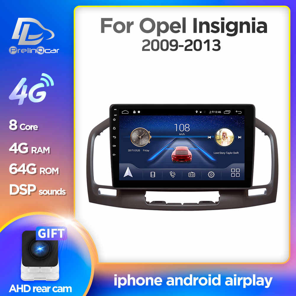 Prelingcar Android 9.0 Per Buick Regal Opel Insignia 1 2008-2013 Auto Radio Multimedia Video Player di Navigazione GPS NO DVD 2 Din