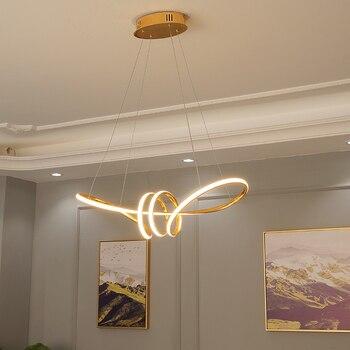 Cromo acabado minimalismo DIY colgante moderno Led luces colgantes para  comedor barra suspensión luminaria suspendida lámpara colgante