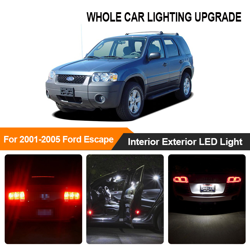 White Amber Red Car Bulbs Exterior Interior <font><b>LED</b></font> Light For 2001-2003 2004 2005 Ford Escape Reverse Brake Parking Turn Signal Lamp image