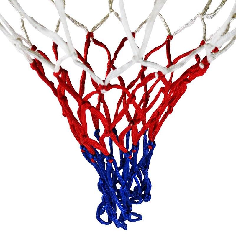 Прочная нейлоновая толстая нить три цвета универсальная баскетбольная сетка Замена-5