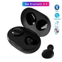 Bluetooth Earphone 5.0 Charge for phone Wireless Headset Smart touch HD Mic IPX7 Waterproof  handfree Earpieces for Huawei honor|Bluetooth Earphones & Headphones|   -