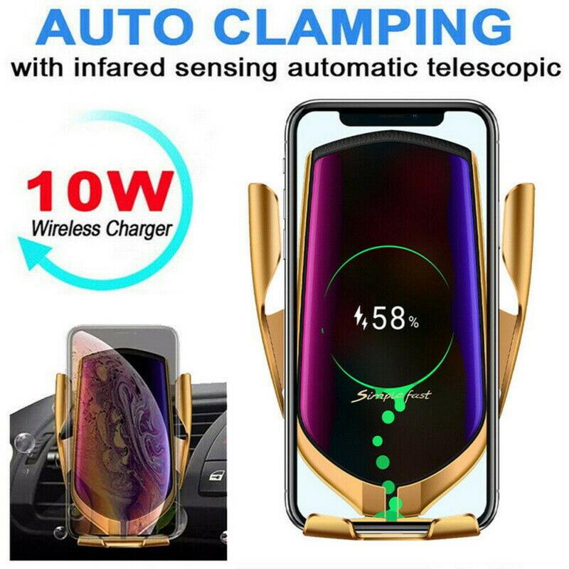 10W Wireless Car Charger Mobile Phone Holder Infrared Sensor Automatic Clamping For Samsung IPhone Huawei Car Accessories