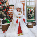 Holiday Decorations Dolls Gift for Kids Children Toys Sing and DanceCute Standing Santa Claus Doll Christmas Figurines Baubles
