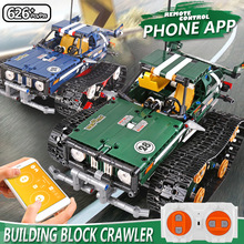 Mould King Technic APP Remote Control 20011 Crawler Racing Car Building Blocks Bricks Set RC Toy for Children Christmas Gift