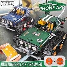 Stampo Re Technic APP di Controllo Remoto 20011 Crawler Auto Da Corsa Building Blocks Mattoni Set RC Giocattolo per I Bambini Regalo Di Natale