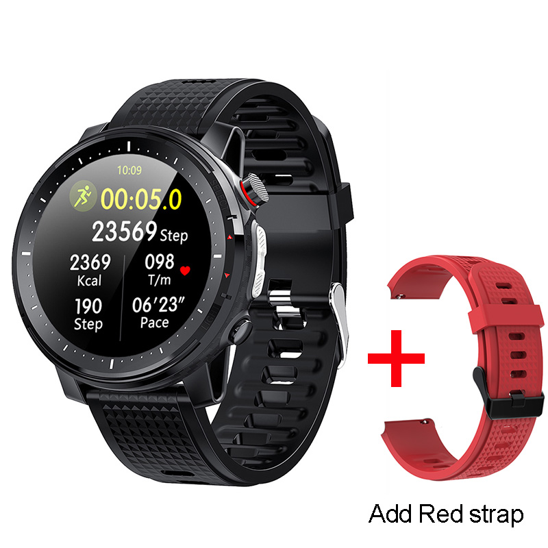 Black With red strap