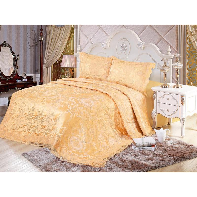 Bedspread euro-Maxi Blumarine, 230*250 cm, orange, with наволочками