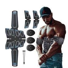 EMS Abdominal ejercitador de músculos estimulador entrenador eléctrico cinturón vibrador adelgazante salud masajeador ABS Fitness de deporte