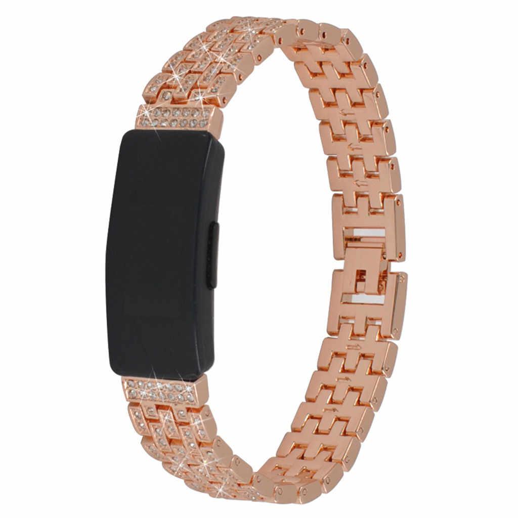 合金象眼ラインストーン腕時計ストラップ Fitbit 鼓舞/時のためのスマートウォッチ 185 ミリメートルインターバンドスマート着用女性