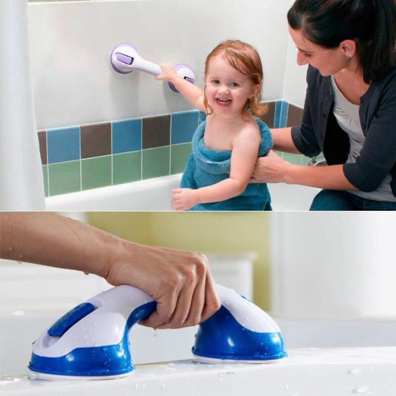 Hot Anti Slip Bathroom Suction Cup Handle Grab Bar For Elderly Safety Bath Shower Tub Bathroom Shower Grab Handle Rail Grip NE