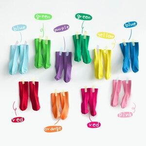 Image 4 - คุณภาพสูงผ้าฝ้ายถุงเท้าเด็กที่มีสีสันยาวเด็กวัยหัดเดินถุงเท้าเด็กถุงเท้าเด็กCandyสี1 8y