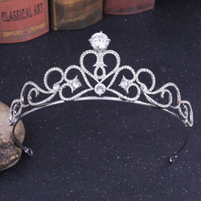Silver Rhinestone Crown Queen Headdress Princess Bride Wedding Headbands Crystal Jewelry Tiaras and Crowns Hair Accessories все цены