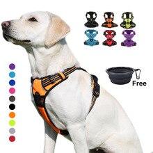 エック犬ハーネス小大耐久反射ペットハーネス犬実行している安全引っ張っウォーキング犬用旅行