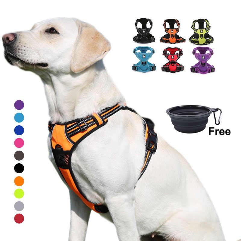 Truelove Harness Anjing Besar Kecil Tahan Lama Reflektif Hewan Peliharaan Anjing Menjalankan Keselamatan Lift Menarik Berjalan Harness untuk Anjing Perjalanan