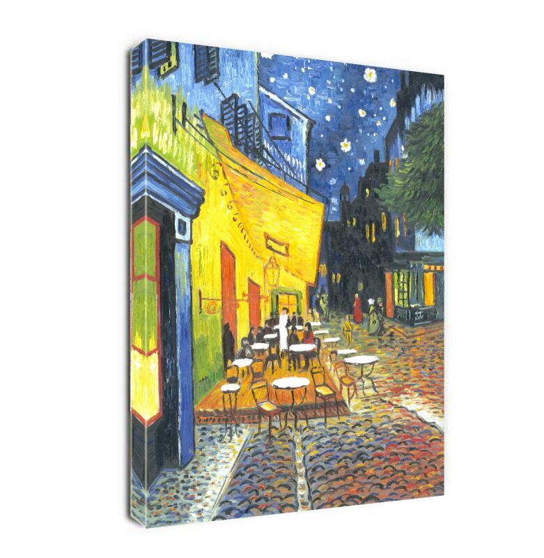 Café terrasse la nuit par Vincent Van Gogh. La peinture à l'huile de Reproduction des Arts classiques sur toile, toile à l'huile peinte à la main