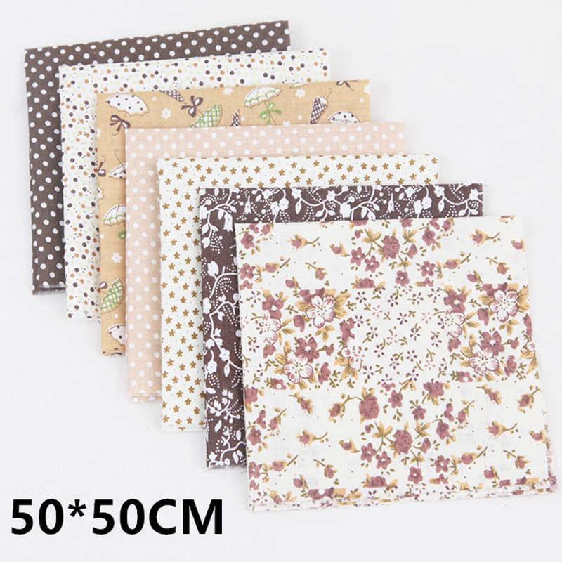 7 stuks Nieuwe 50*50cm 100% Katoen Stof Diverse Pre-cut Quilt Stof Kwart Bundel 66