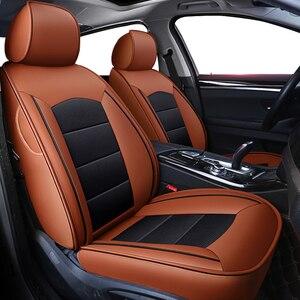 Image 1 - Kokololee Custom Real Lederen Auto Stoelhoezen Set Voor Opel Astra H G J Insignia Vectra B Meriva Vectra C mokka Auto Accessoires