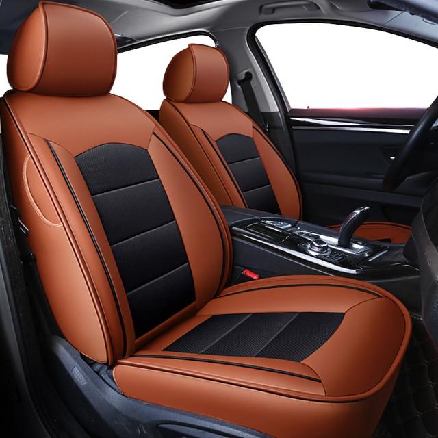 Kokololee Custom Real Lederen Auto Stoelhoezen Set Voor Opel Astra H G J Insignia Vectra B Meriva Vectra C mokka Auto Accessoires