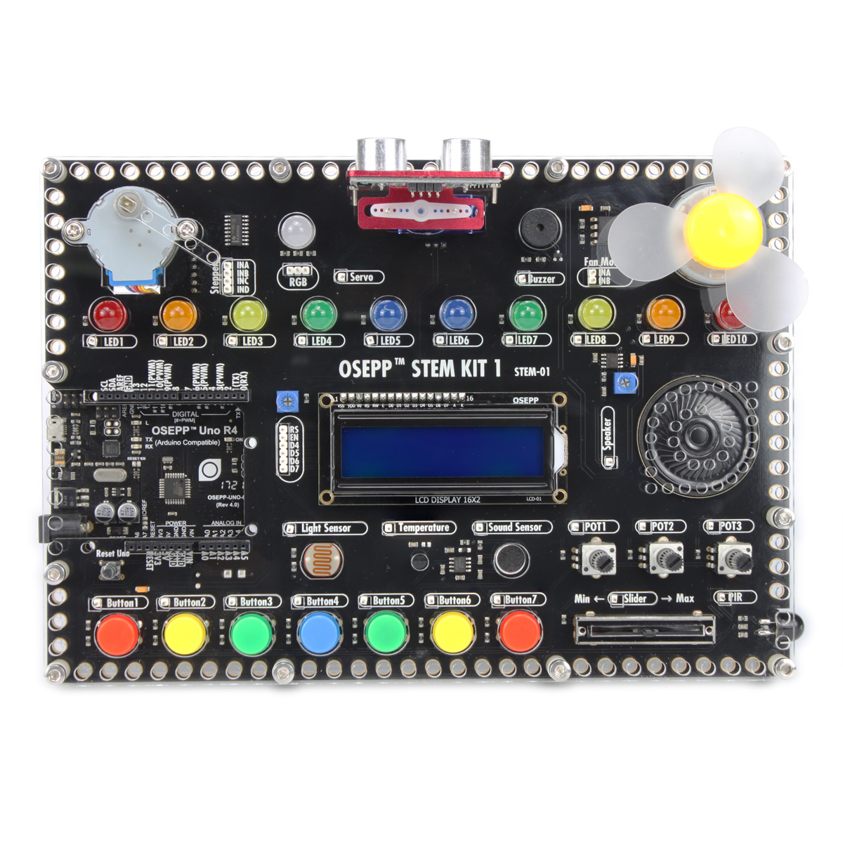 OSEPP Stem Hub All In One Integrated Development Environment - Arduono Start Kit For Programming Electronic Beginer