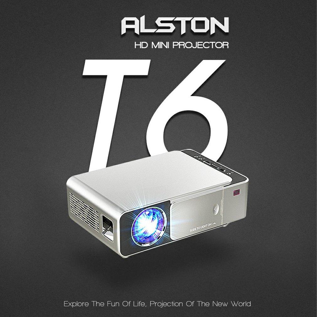T6 fhd led projetor 4k 3500 lumens hdmi-compatível com usb 1080p portátil cinema proyector beamer display lcd versão normal-0