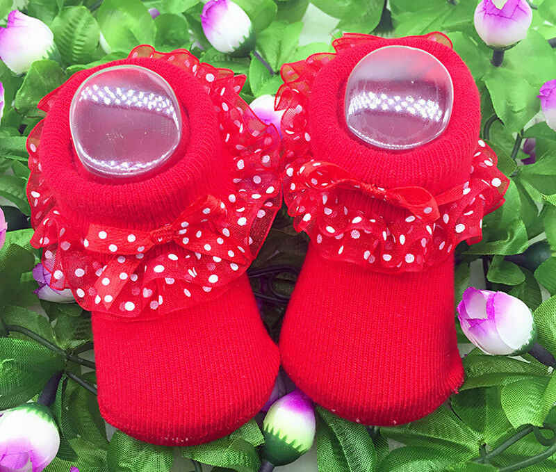 0-12Months Baby Girls Tutu Socks Lace Newborn Infant Sock Cotton Short Socks
