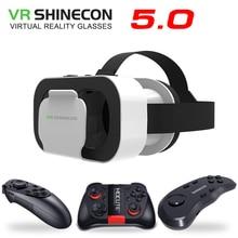 VR SHINECON 5.0 okulary wirtualna rzeczywistość VR Box okulary 3D dla telefonu 4.7 6.0 cala