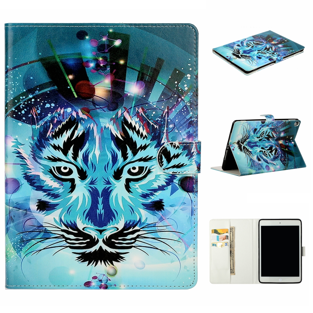 Case White Case For iPad 10 2 inch 2019 Stand Auto Sleep Smart Folio PU Leather Cover For