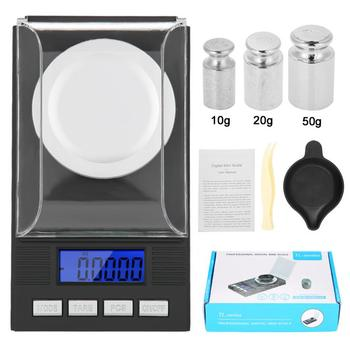 50g 0 001g electronic scales led luminous high precision digital jewelry medicinal herbs scale mini lab weight kitchen scale 10g/20g/50g/100g Mini Portable Electronic Digital Scale 0.001g High Precision Pocket Jewelry Diamond Gem Weight Balance Scale