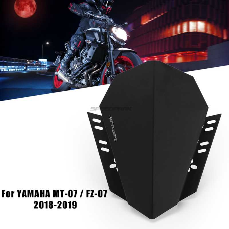 Motorcycle CNC Windshield Windscreen Kit Deflector Fits For YAMAHA MT-07 MT 07 2018 2019 MT07 FZ07 FZ-07 FZ 07 2018 2019