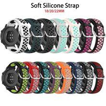 Für samsung galaxy uhr 3 46 getriebe s3 Für Xiaomi Amazfit Smart Uhr Armband armband Silikon Sport Schleife Armband 22mm 18mm 20mm cheap CAOWTAN CN (Herkunft) 20cm Neu ohne Etiketten SSB0202 metal buckle