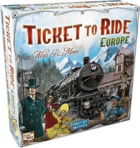 Text Version Of Board Game TICKET TO RIDE Ticket Tour European Version Basic Expansion US Version